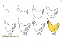 How To Draw Hen