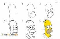 How To Draw Bart Simpson Face