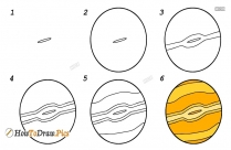 How To Draw Jupiter