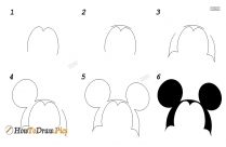 How To Draw Step By Step Minnie Mouse