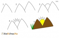 How To Draw Mountain?