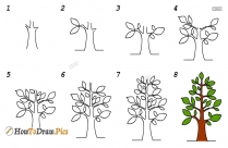 How To Draw Neem Tree