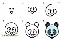 How To Draw Panda