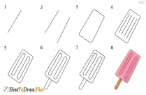 How To Draw Popsicle