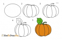 How To Draw Pumpkin Drawing