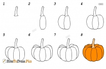 How To Draw Brinjal Easy