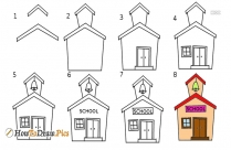 How To Draw School