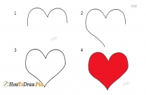 How To Draw Step By Step Love Heart