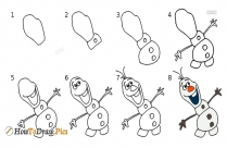 How To Draw Step By Step Olaf