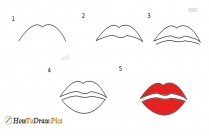 How To Draw Step By Step Lips
