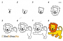 How To Draw Step By Step Lion