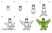How To Draw Step By Step Dragon