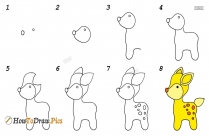 How To Draw Step By Step Deer