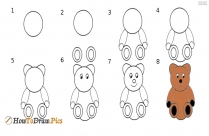 How To Draw Teddy Bear Step By Step?