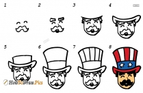 How To Draw Uncle Sam