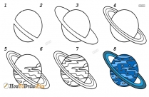 How To Draw Uranus