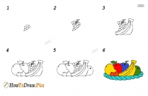 How To Draw Vegetables And Fruits