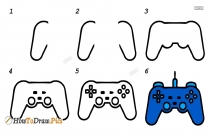 How To Draw Xbox Controller