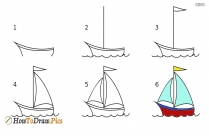 How To Draw Yacht