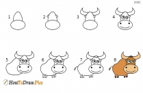 How to draw yak? Step by step drawing lesson with pictures