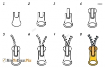 How To Draw Zipper